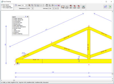 Automatic generation of truss drawings