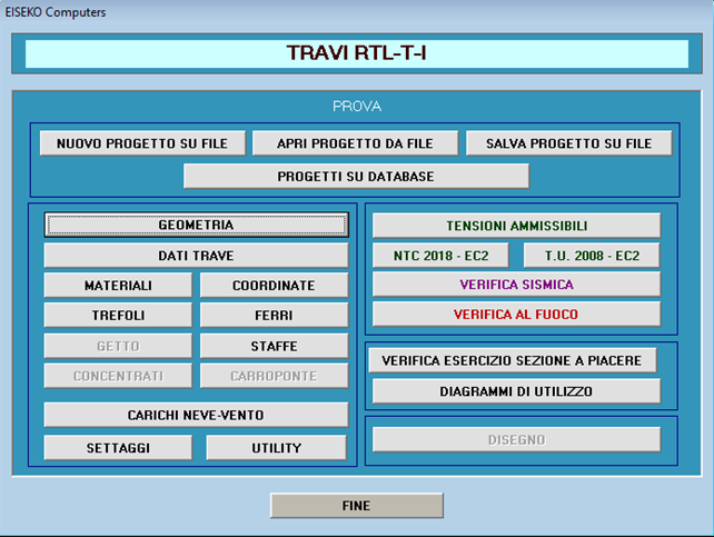 TRAVI RTL CALCOLO TRAVI PRECOMPRESSE