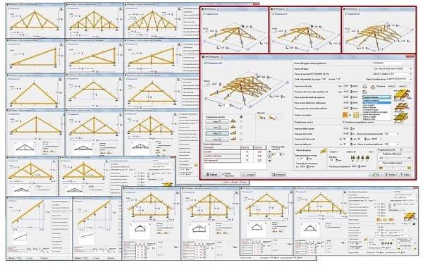 Software calcolo legno e legno lamellare eiseko computers for Tettoia inclinata del tetto