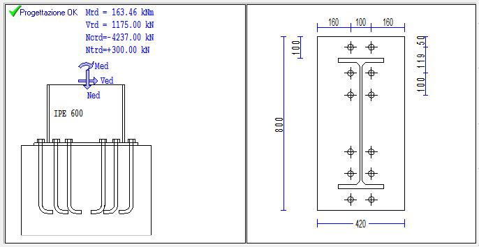 Plinto per pilastro in acciaio connessione fix