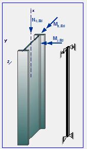 stabilità elementi acciaio in copressione