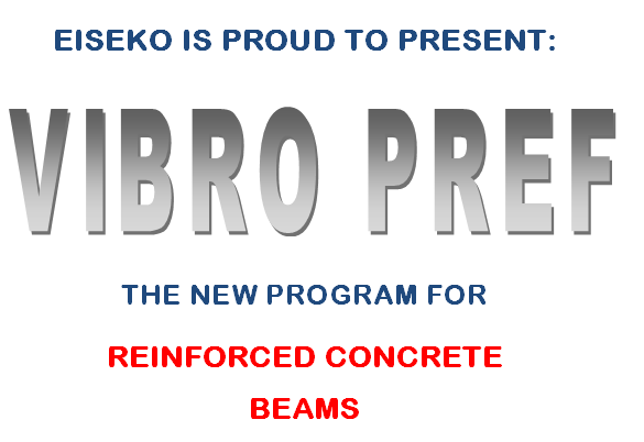 VIBRO-PREF:  the NEW program for reinforced concrete beams