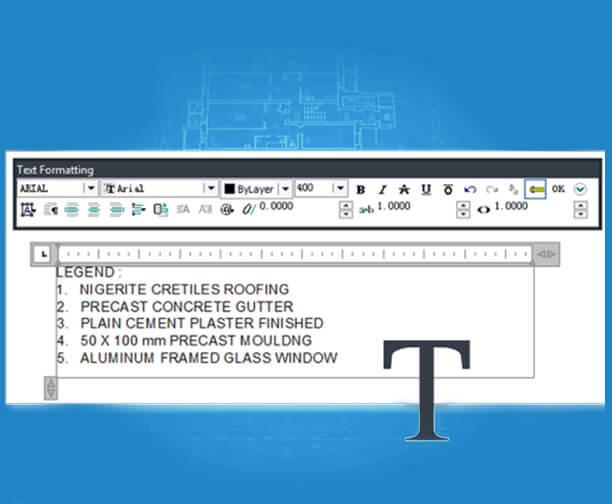 MText  testo su più righe, funzioni di editing di testo completo