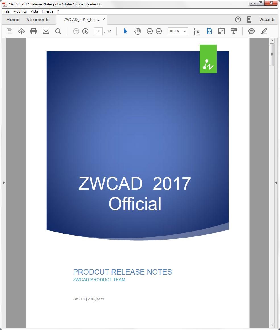 Release Notes: tutte le nuove funzionalità in dettaglio per la nuova release ZWCAD 2017