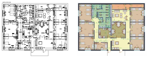 Plot 2D floor plan in ZWCAD to EPS file and render it in Photoshop